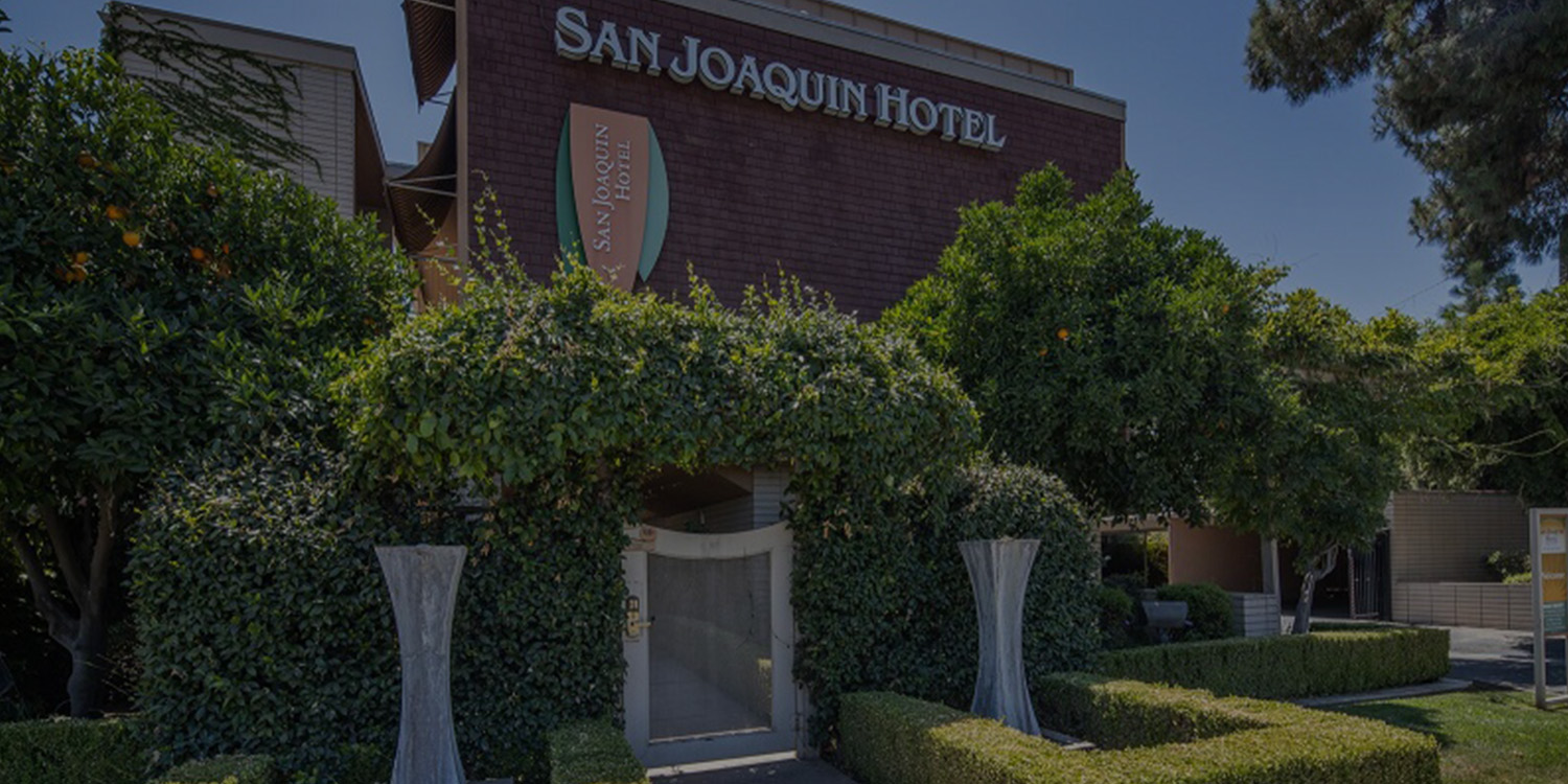 WELCOME TO THE SAN JOAQUIN HOTEL SURESTAY COLLECTION BY BEST WESTERN A BOUTIQUE LUXURY ALL-SUITES EXTENDED STAY HOTEL IN FRESNO, CA